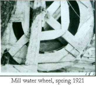 Mill water wheel inspring 1921